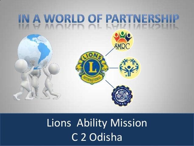 Lions Ability Mission     C 2 Odisha