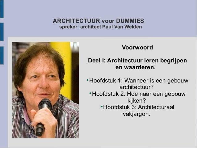 Wanneer Is Architectuur Ontstaan.Architectuur Voor Dummies