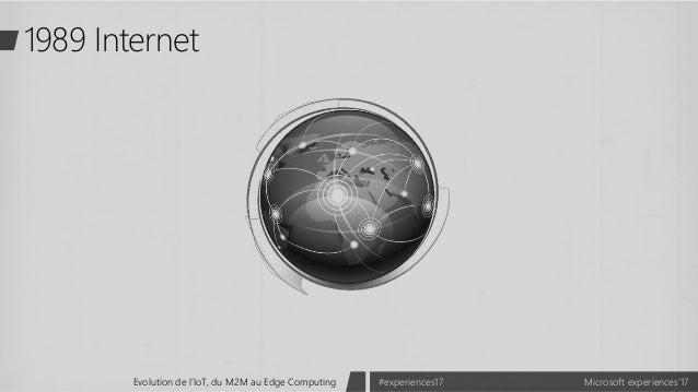 Microsoft experiences'17#experiences17Evolution de l'IoT, du M2M au Edge Computing 1989 Internet