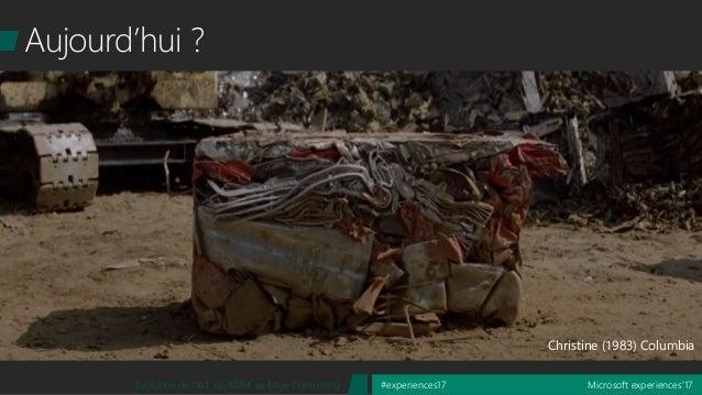 Microsoft experiences'17#experiences17Evolution de l'IoT, du M2M au Edge Computing Aujourd'hui ? Christine (1983) Columbia