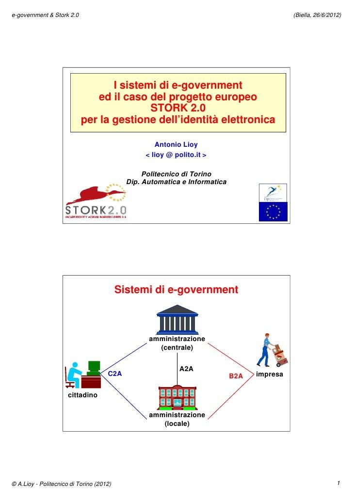 e-government & Stork 2.0                                                                    (Biella, 26/6/2012)           ...
