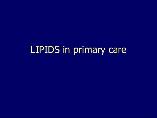 LIPIDS in primary care
