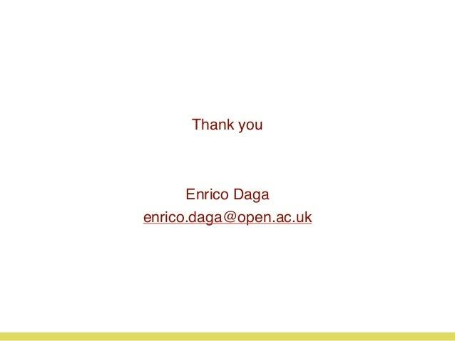 Thank you Enrico Daga enrico.daga@open.ac.uk