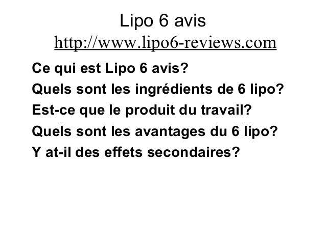 Lipo 6 avis http://www.lipo6-reviews.com Ce qui est Lipo 6 avis? Quels sont les ingrédients de 6 lipo? Est-ce que le produ...