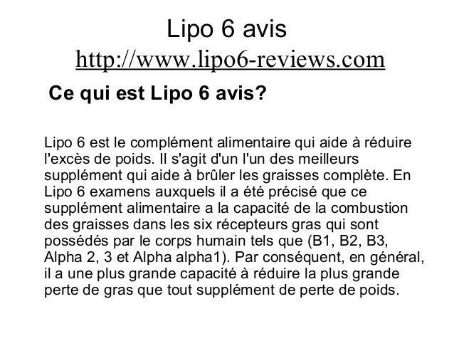 Lipo 6 avis http://www.lipo6-reviews.com Ce qui est Lipo 6 avis? Lipo 6 est le complément alimentaire qui aide à réduire l...