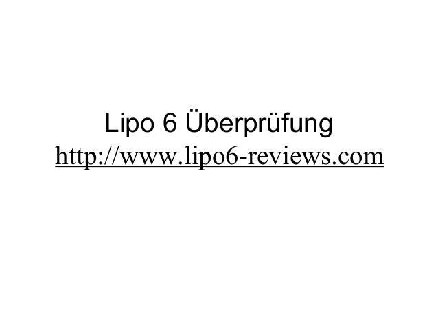 Lipo 6 Überprüfung http://www.lipo6-reviews.com