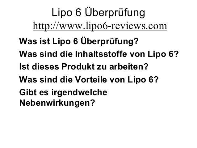 Lipo 6 Überprüfung http://www.lipo6-reviews.com Was ist Lipo 6 Überprüfung? Was sind die Inhaltsstoffe von Lipo 6? Ist die...