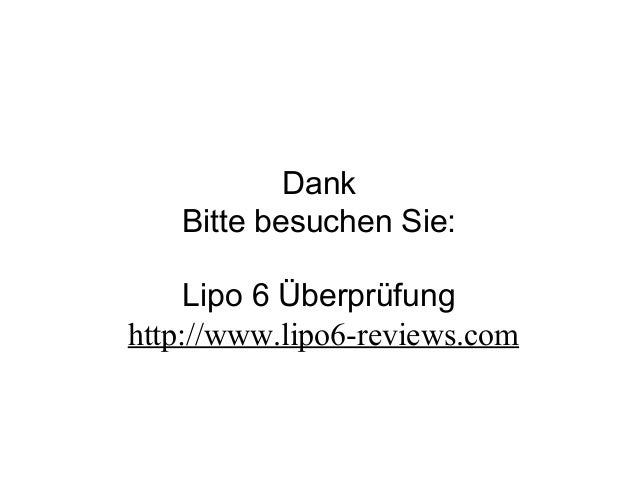 Dank Bitte besuchen Sie: Lipo 6 Überprüfung http://www.lipo6-reviews.com