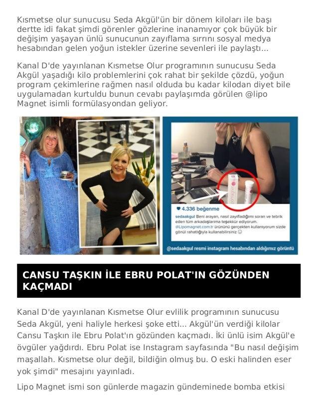 Kısmetse olur sunucusu Seda Akgül'ün bir dönem kiloları ile başı dertte idi fakat şimdi görenler gözlerine inanamıyor çok ...