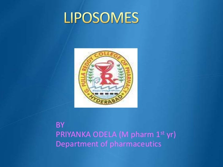 BYPRIYANKA ODELA (M pharm 1st yr)Department of pharmaceutics