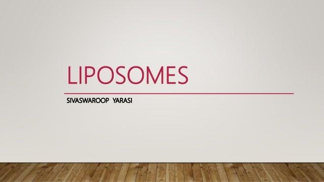 LIPOSOMES SIVASWAROOP YARASI