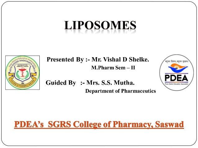  Introduction  Classification of Liposomes  Advantages & Disadvantages  Methods of Preparation  Vesicular ocular drug...