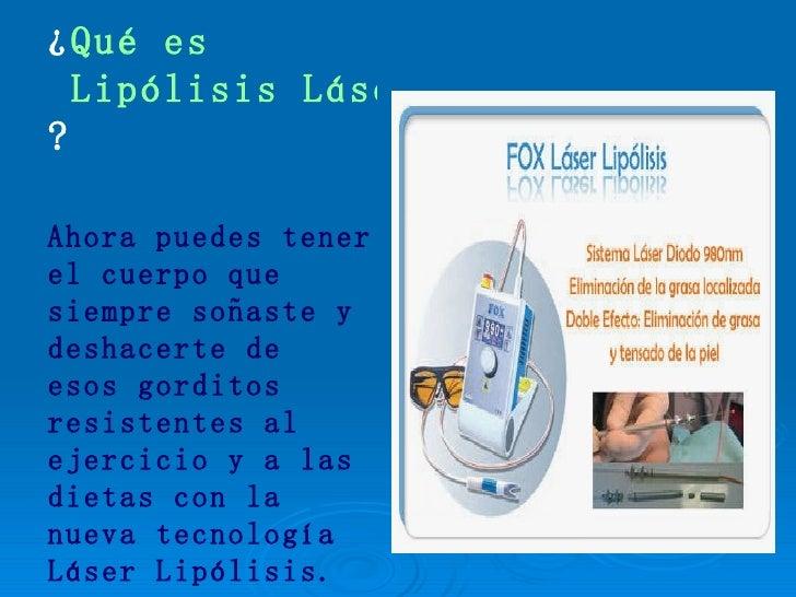 Lipolisis Laser Lipo Sin Cirugia Con Lipolisis Laser