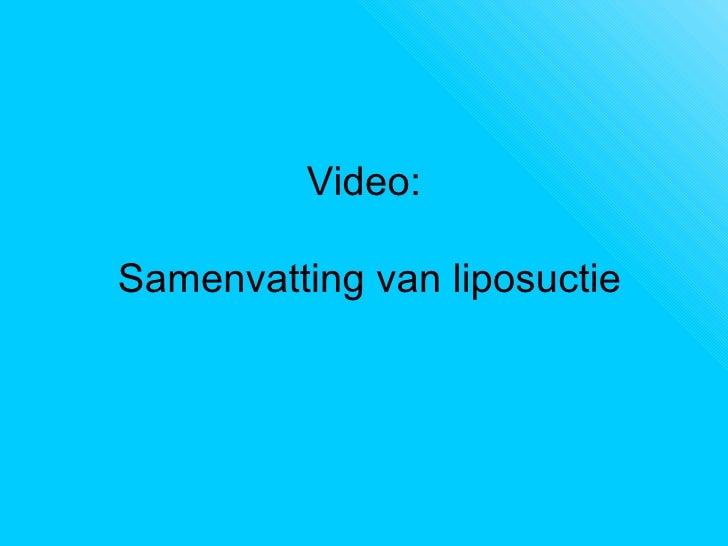 liposuctie in belgie