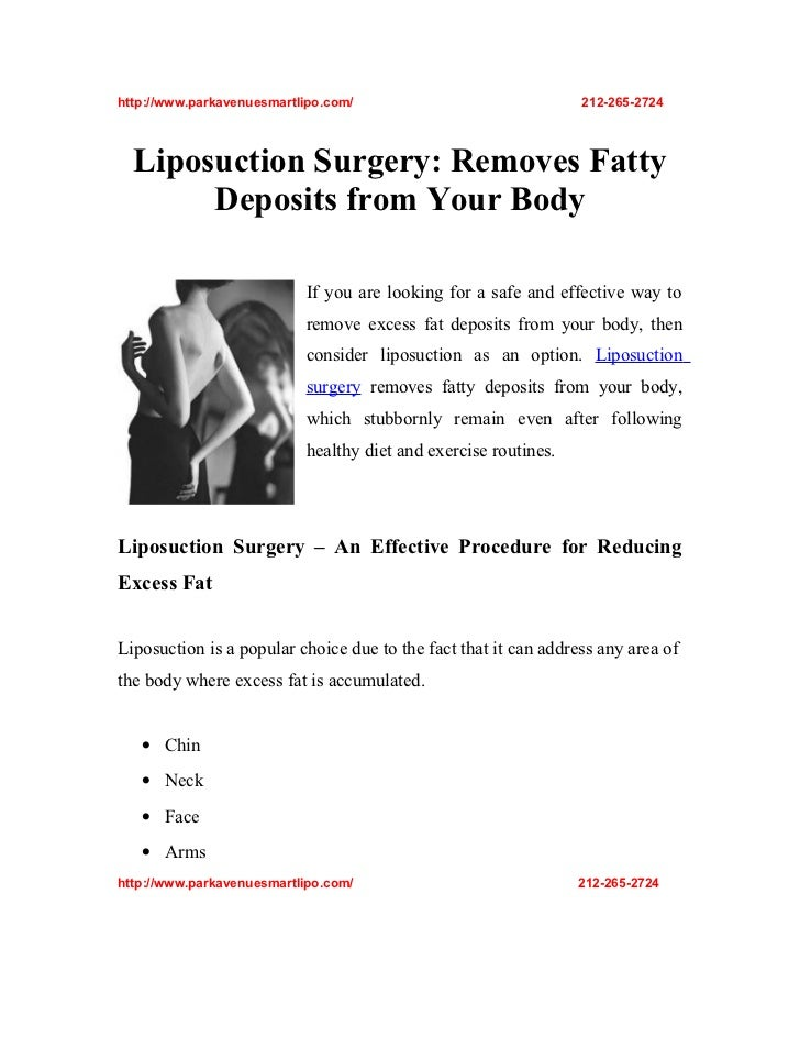 http://www.parkavenuesmartlipo.com/                              212-265-2724  Liposuction Surgery: Removes Fatty       De...