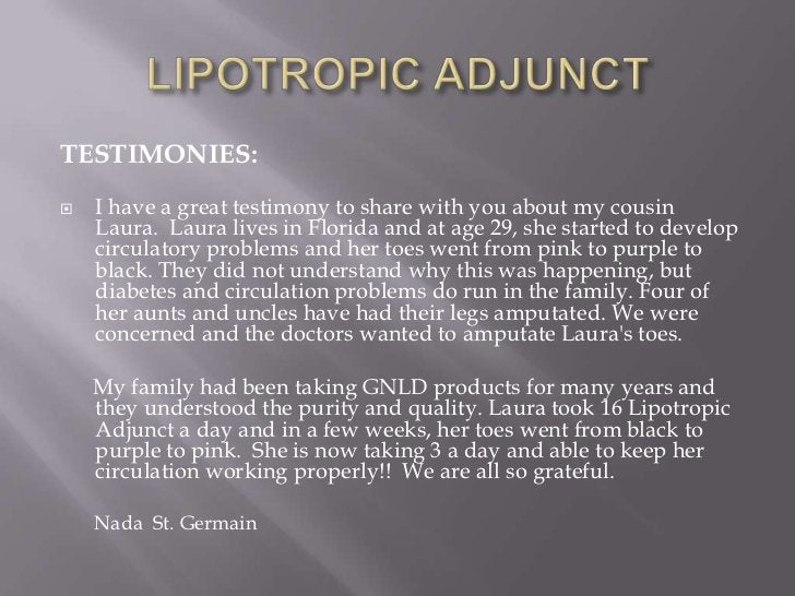 TESTIMONIES:   I have a great testimony to share with you about my cousin    Laura. Laura lives in Florida and at age 29,...