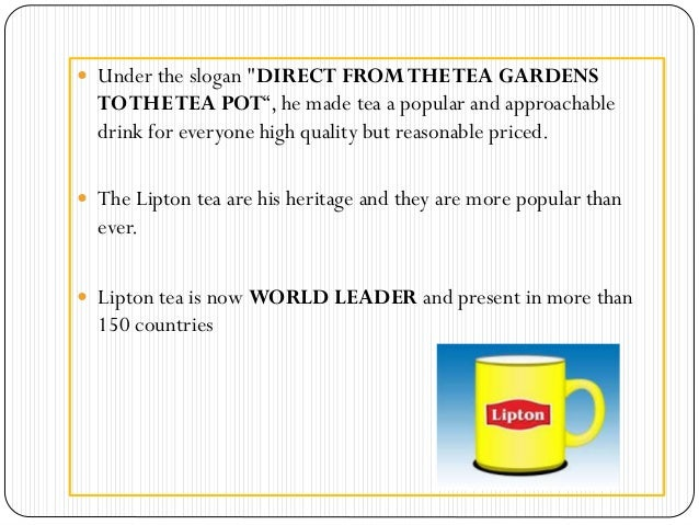 lipton tea slogan