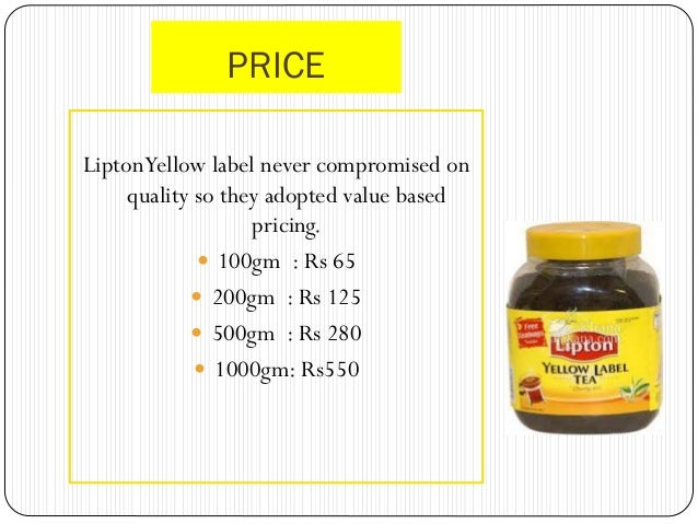 marketing: tea and lipton yellow label essay Marketing plan: lux soap essay  the beverages division manufactures and distributes tea and coffee under  the label of lux sunscreens identifies the.
