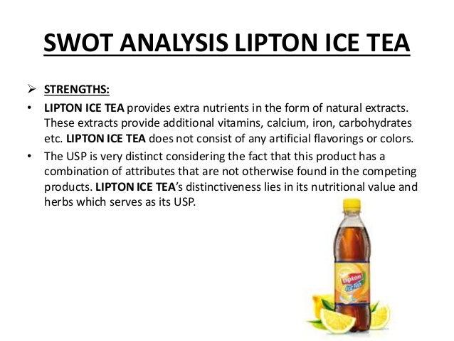 Lipton Tea SWOT Analysis, Competitors & USP