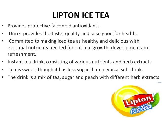 "product life cycle of lipton tea Figure 3 product life cycle""""""""""""""""""""""""' 36 figure 4 ansoff matrix """"""""""""""""""""""""""38  executive summery the venture is fundamentally the dispatch of lipton ice tea."