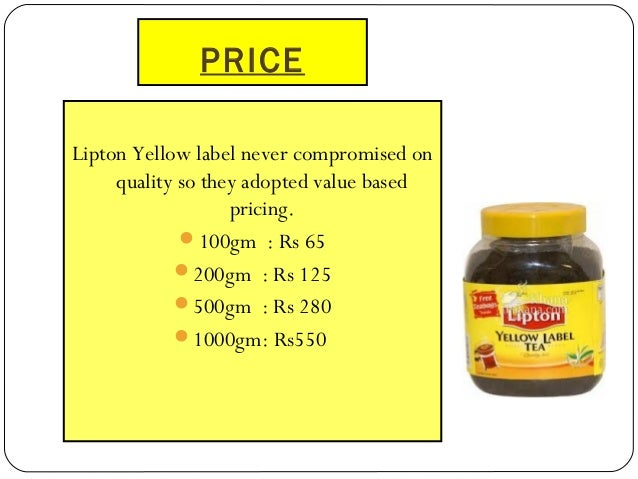 marketing mix of lipton Marketing mix over the decades, the meaning of marketing has changed and evolved to include various processes which help in the success of the product in marketing, this process includes four main elements, which are as follows.