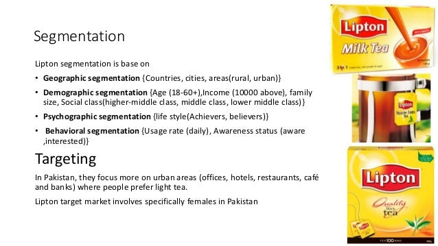 lipton tea market segmentation This report covers market characteristics, size and growth, segmentation, regional breakdowns, competitive landscape, market shares, trends and strategies this report studies the global market size of bottled iced tea in key regions like north america, europe, asia pacific, central & south america and middle east & africa, focuses on the .