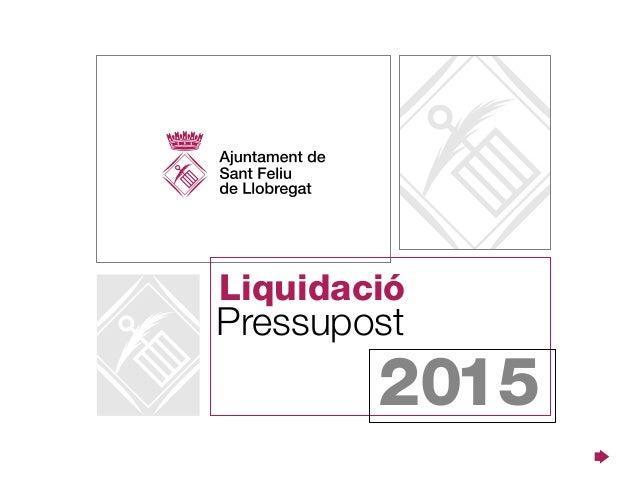 Pressupost Liquidació 2015