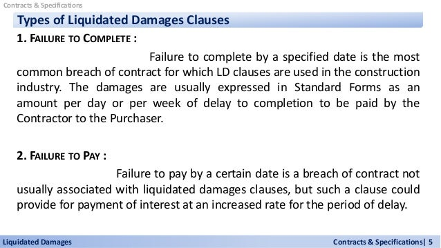 Liquidated Damages Contracts