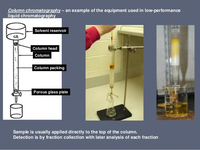 liquid chromatography If the sample solution is in contact with a second solid or liquid phase, the  different solutes will interact with the other phase to differing degrees due to.