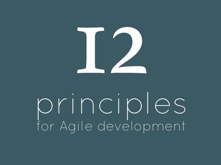 12principlesfor Agile development
