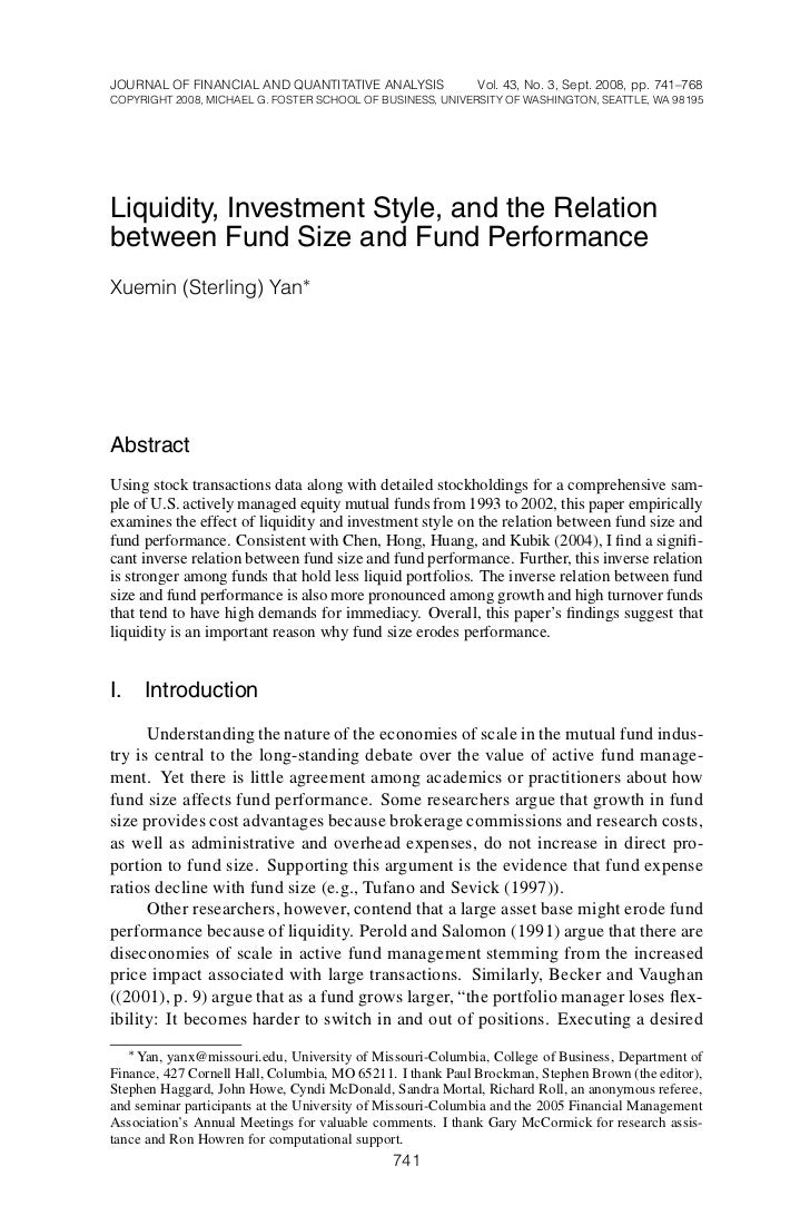 8/4/2008-1112–JFQA #43:3 Yan                                                   Page 741       JOURNAL OF FINANCIAL AND QUA...
