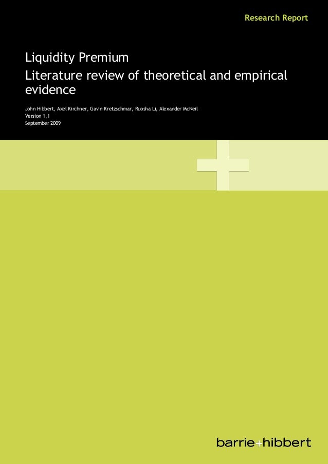 Liquidity premium literature_review