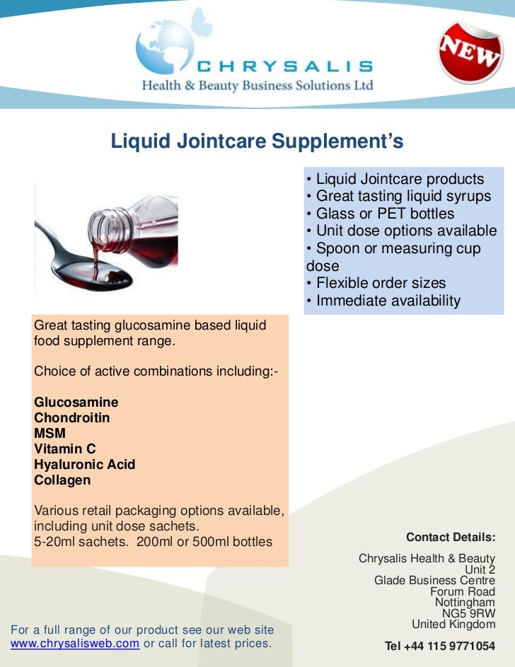 Liquid Jointcare Supplement's                                                   • Liquid Jointcare products               ...