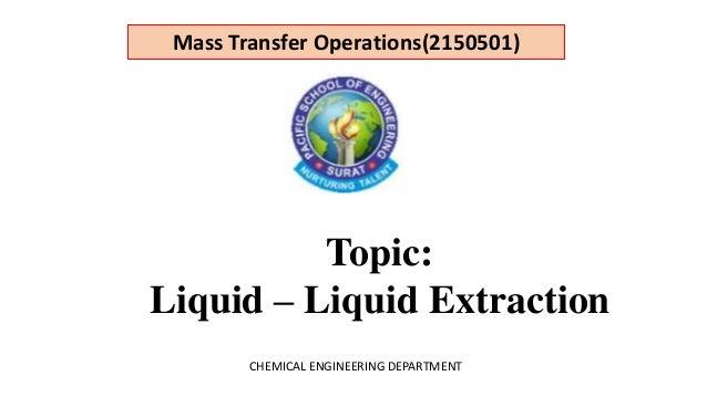 Liquid Liquid Extraction 1