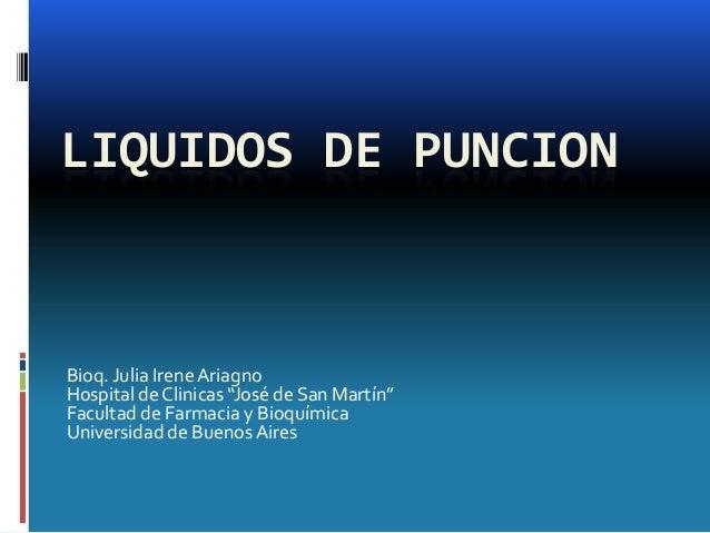 Irene Cruz >> Liquidos de puncion 2013