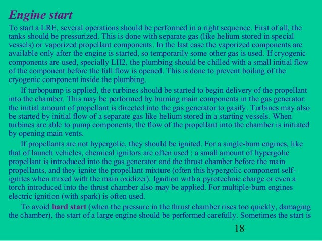 Engine startTo start a LRE, several operations should be performed in a right sequence. First of all, thetanks should be p...