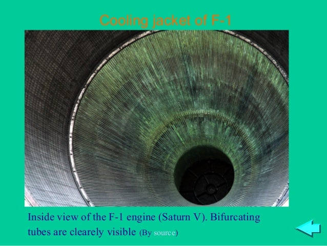 Cooling jacket of F-1Inside view of the F-1 engine (Saturn V). Bifurcatingtubes are clearely visible (By source)