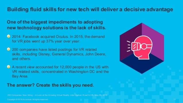 One of the biggest impediments to adopting  new technology solutions is the lack of skills.  2014: Faceboo...