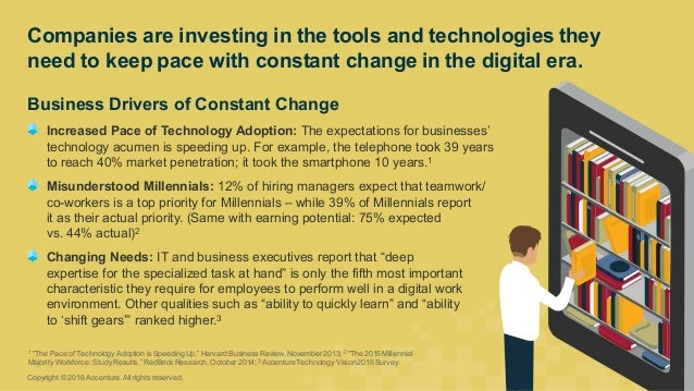 Business Drivers of Constant Change Increased Pace of Technology Adoption: The expectations for businesses'  ...