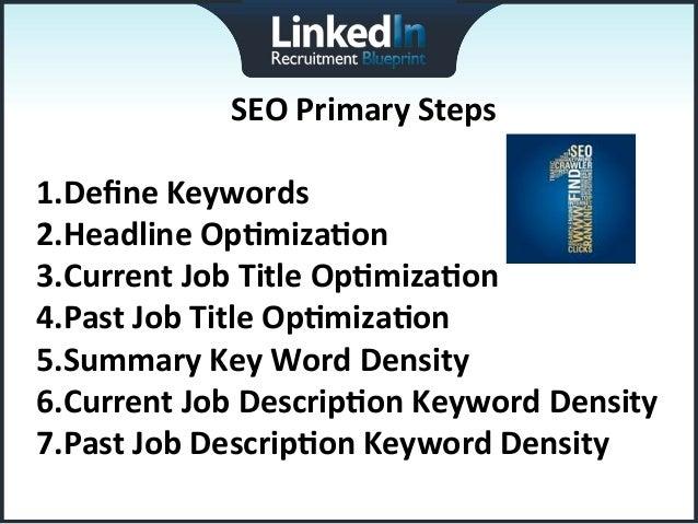 Linkedin recruitment blueprint webinar 1 current job descripon keyword density 12 malvernweather Images