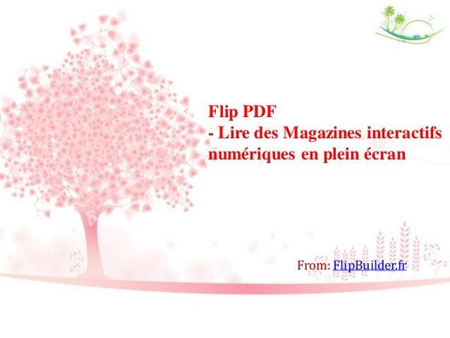 Flip PDF - Lire des Magazines interactifs numériques en plein écran From: FlipBuilder.fr
