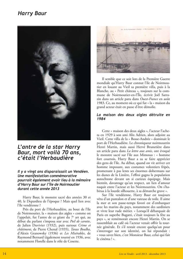 Lire en Vendée - avril 2013 - décembre 201314Harry Baur, le monstre sacré des années 30 et40, le Depardieu de l'époque ? M...