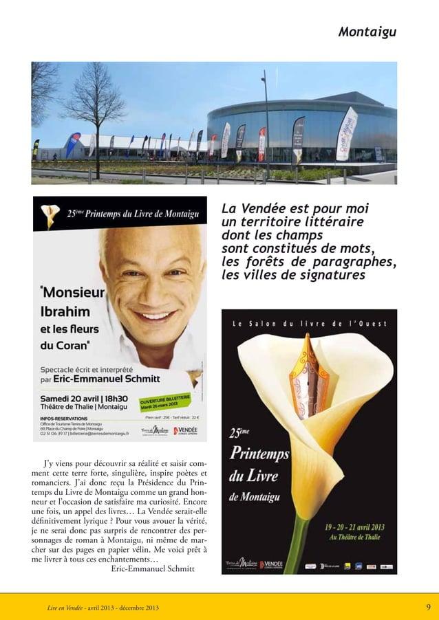 9Lire en Vendée - avril 2013 - décembre 2013MontaiguJ'y viens pour découvrir sa réalité et saisir com-ment cette terre for...