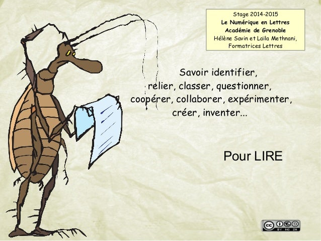 Savoir identifier, relier, classer, questionner, coopérer, collaborer, expérimenter, créer, inventer... Pour LIRE Stage 20...