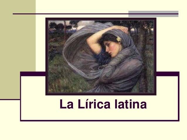 La Lírica latina