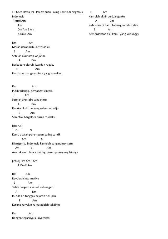 Chord Dan Lirik Lagu Kerispatih