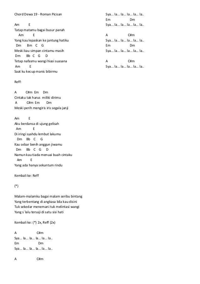 Permalink to Lirik Lagu Dewa 19 Risalah Hati Dan Chord