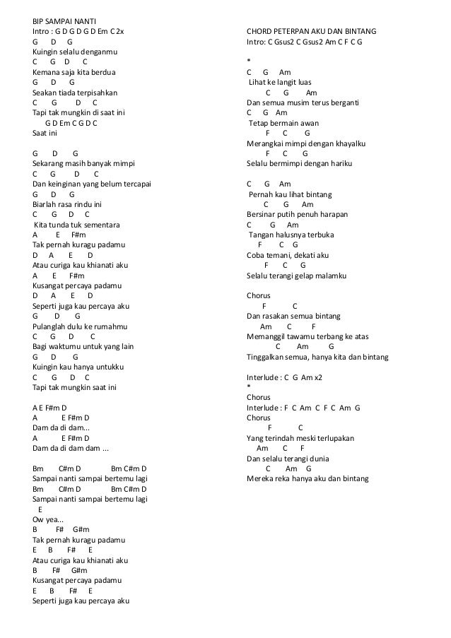 Lirik Chord Lagu Mix 3
