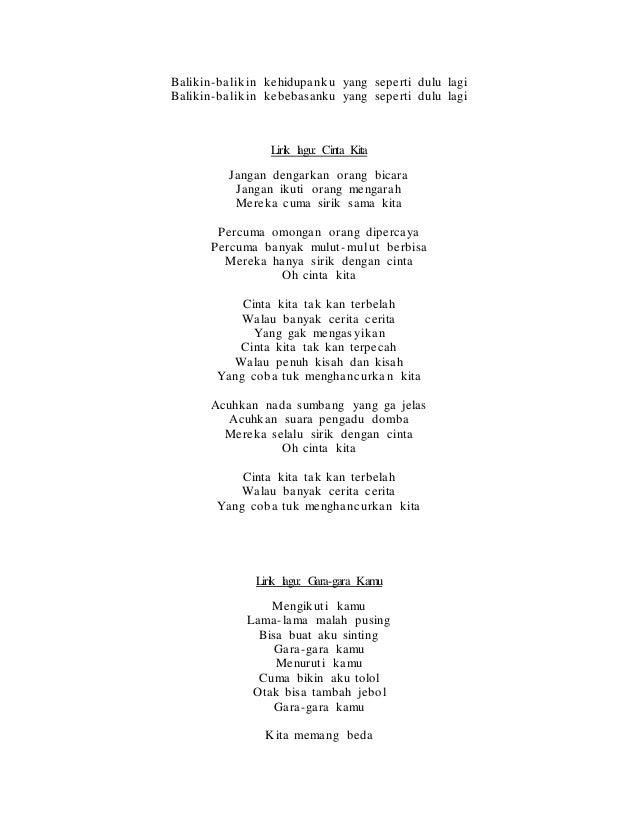 lirik lagu me inikah cinta