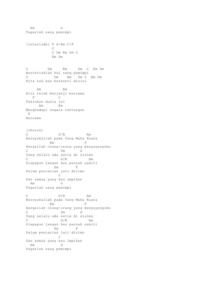 Lirik dan kunci gitar gigi